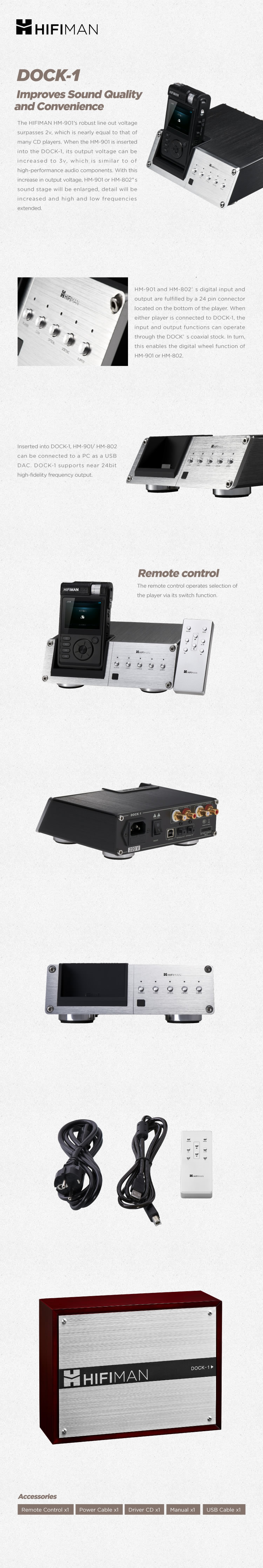 Docking stations for HIFIMAN HM-901/802